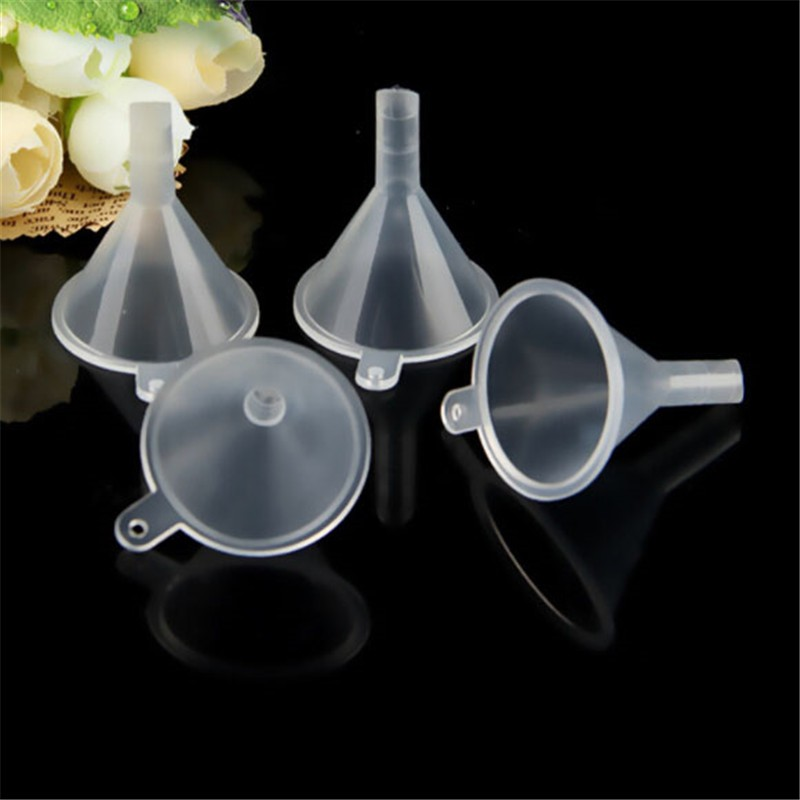 10pcs Mini Plastic Funnel Hopper Perfume Emulsion Packing Tool Kitchen Gadgets
