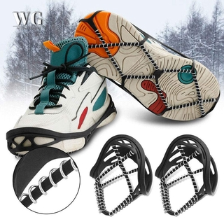 WPGY Universal Non-Slip Ice Cleats Shoes for Adult Spikeless Coil Design for Ice Fishing Walking Snow Shoveling Running