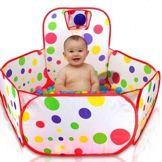 [FREESHIP] Lều nhà banh cho bé kèm 100 bóng- Chấm Bi595 tk