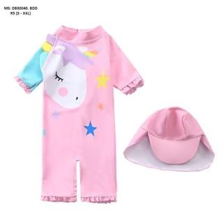 Áo bơi cho bé kèm mũ che nắng