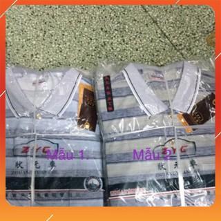 (Xả hàng) Áo thun trung niên cotton mát mẻ (có cộc và dài tay)