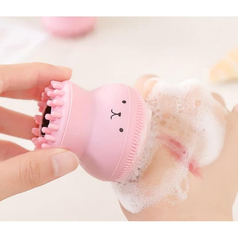 Mút rửa mặt hình bạch tuộc vừa rửa mặt, vừa  massage, loại bỏ bụi bẩn và bã nhờn, giúp da tươi sáng, mịn màng