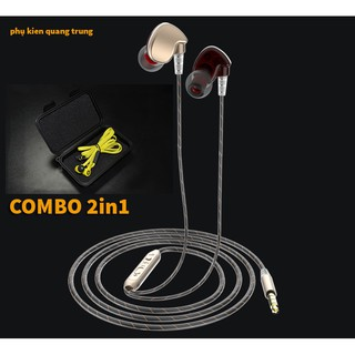 COMBO 2 IN 1 Tai nghe Hifi metal + Hộp đựng KZ cứng