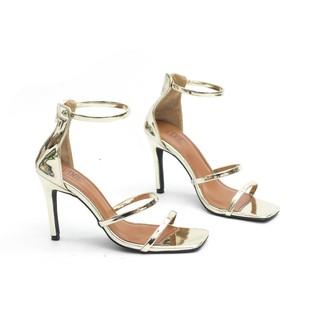 Giày Sandal Cao Gót 9cm 3 Quai Mảnh Pixie X432
