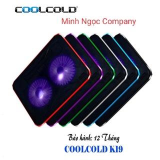 Đế tản nhiệt laptop COOLCOLD K19 2 Fan (màu đen) thumbnail