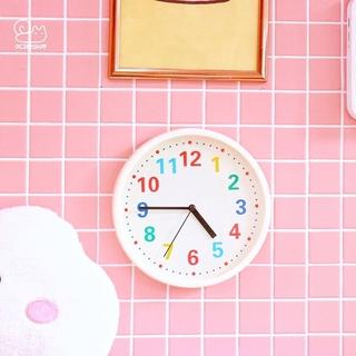 Đồng hồ treo tường decor trắng số nhiều màu