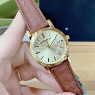 (Thẻ bảo hành 12 tháng) (burberry nữ) [free Ship] Đồng hồ nữ Burberry dây da cao cấp, tỉnh xảo từng đường nét MTP-STORE thumbnail