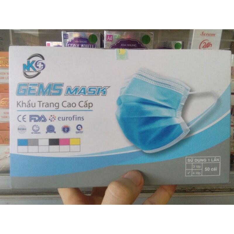 Khẩu trang y tế 4 lớp.Gem Mask  KHẨU TRANG Y TẾ KHÁNG KHUẨN 4 LỚP Gem Mask