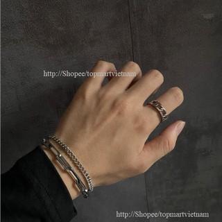 Yêu ThíchLắc tay nam nữ dây xích inox cá tính Hàn Quốc - Vòng tay nam nữ KAMI13