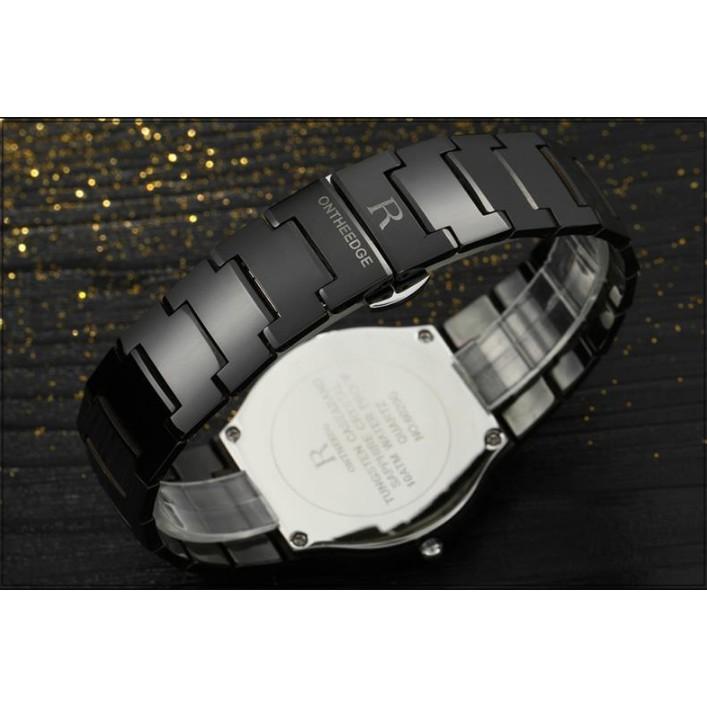 Đồng hồ nam dây đúc đặc siêu mỏng kính sapphire Ontheedge RZY001