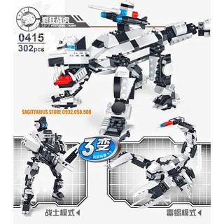 Lego Peizhi 0415 Lắp Ráp Cọp Cuồng Nộ – Frenzied Tiger ( 302 Mảnh )