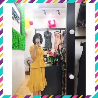 [Cao cấp/Dự tiệc/Sang trọng] Đầm đũi hàn 2 tầng cúc bọc SEFA FASHION -MKFD19210952 (Đẹp nhất, Giá rẻ)