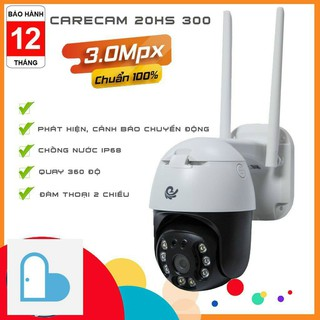 Camera WIFI PTZ CARECAM 3.0MP – Full 4k- Ngoài trời Xoay 360đ, Chống nước – Kèm thẻ nhớ 32Gb/64Gb [tùy chọn]