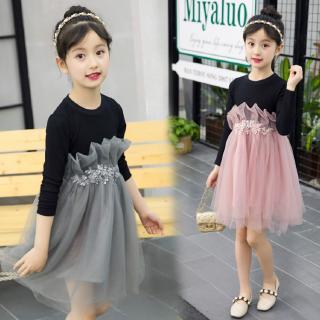 Đầm xòe phong cách thời trang dễ thương dành cho bé gái