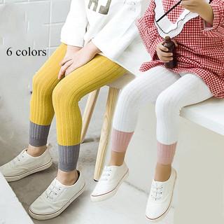 Quần Legging Cotton Phối Màu Thời Trang Cho Bé Gái