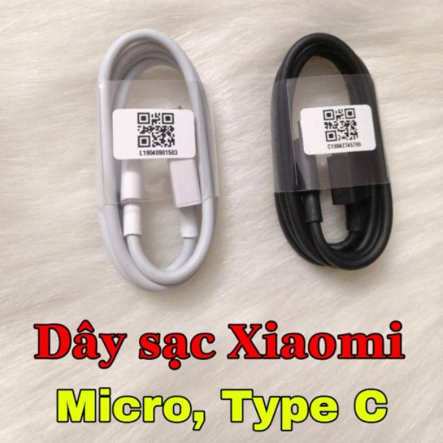 Dây sạc Xiaomi sạc nhanh chân Micro USB, Type C