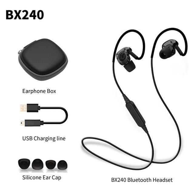 Plextone BX240 - Tai Nghe Bluetooth Thể Thao - Chống Thấm Nước Hiệu Quả+ Tặng Hộp Đựng