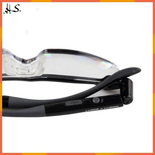 Mighty Sight LED Presbyopia Light Glasses Magnifier LED Night Vision Luminous Glasses Portable Glasses Lenses with Illumination