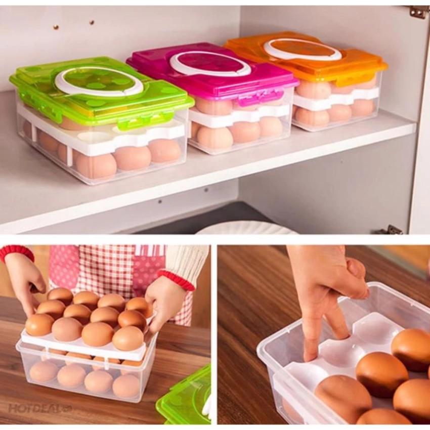 Hộp đựng trứng 2 tầng 24 ô