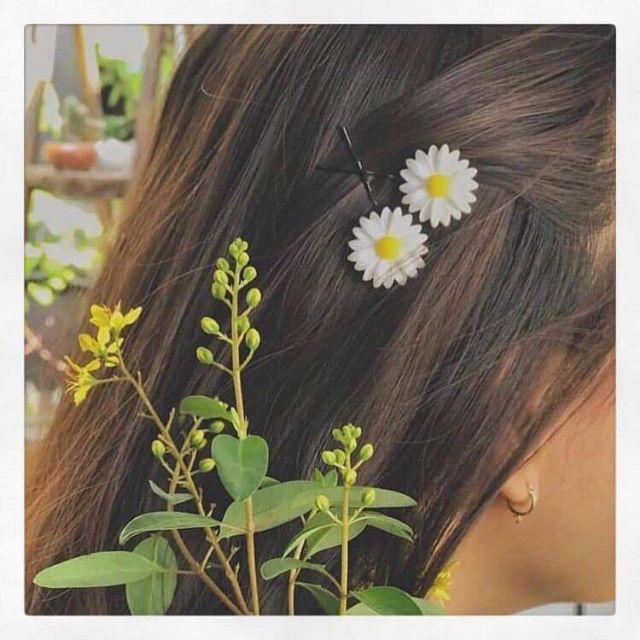 Sét 2 kẹp tóc hoa cúc
