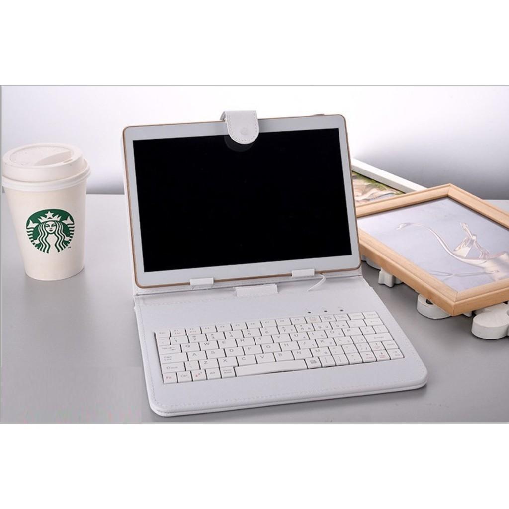 Máy tính bảng lai laptop 2 in 1 10.1inch Ram8gb Rom128gb + bao da kiêm bàn phím hàng đẹp