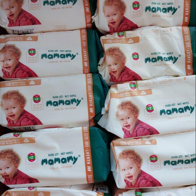 Khăn ướt Mamamy 100 tờ không mùi