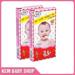 [Mã FMCGSALE55 giảm 8% đơn 500K] Rơ Lưỡi Đông Fa cho trẻ sơ sinh ( 10 Hộp 50 Cái )