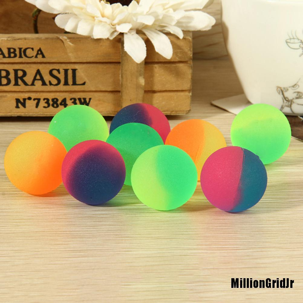 NewdJr 10 Pcs 32mm Noctilucent Ball Luminous Candy Colors High Bounce Ball for Kids Super