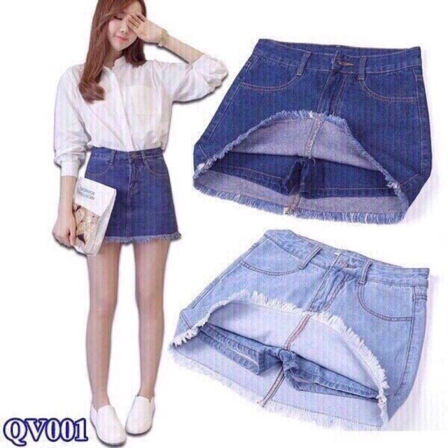 Quần váy jean nữ cao cấp 001
