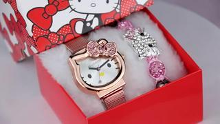 Đồng hồ đeo tay cho bé gái PINK038 [FREESHIP] Pink Xinh Decor Hello Kitty đủ màu trắng xanh hồng đỏ đen