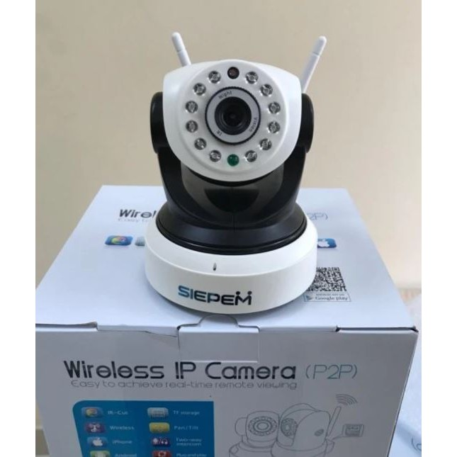 Camera iP Wifi Siepem WR-Pro - 2.0Mp 2 Anten chuẩn HD - 9924502 , 726134504 , 322_726134504 , 660000 , Camera-iP-Wifi-Siepem-WR-Pro-2.0Mp-2-Anten-chuan-HD-322_726134504 , shopee.vn , Camera iP Wifi Siepem WR-Pro - 2.0Mp 2 Anten chuẩn HD