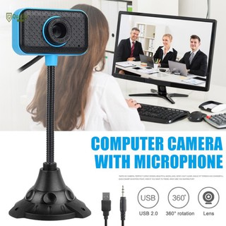 ✅(Bảo hành 06 tháng)Webcam Chân Cao có mic dùng cho máy tính có tích hợp mic và đèn Led trợ sáng-Webcam máy tính để bàn
