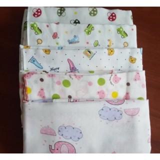 2 khăn tắm xuất nhật 2 lớp in hoa, khăn sơ sinh, tắm cho bé