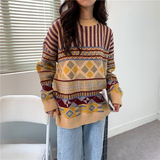 Áo len thổ cẩm sọc (kèm ảnh thật)