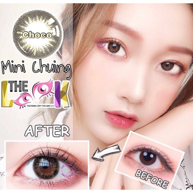 Contact Lens - Mini Chuing choco + Khay Gương