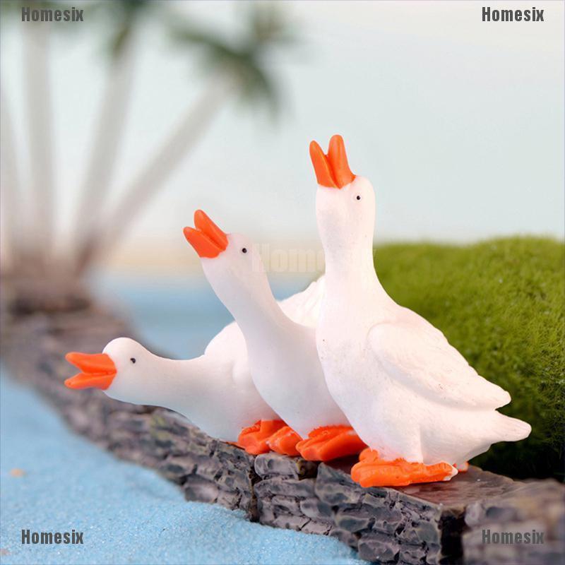 [HoMSI] Goose Mini Miniature Fairy Garden Ornament Decor Pot Craft Accessories SUU