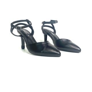 Giày Sandal Nữ Đế Cao - KALEEA Thiết Kế Gót Nhọn 8p Đế Cao Su Chống Trơn Trượt - UK1903 <33