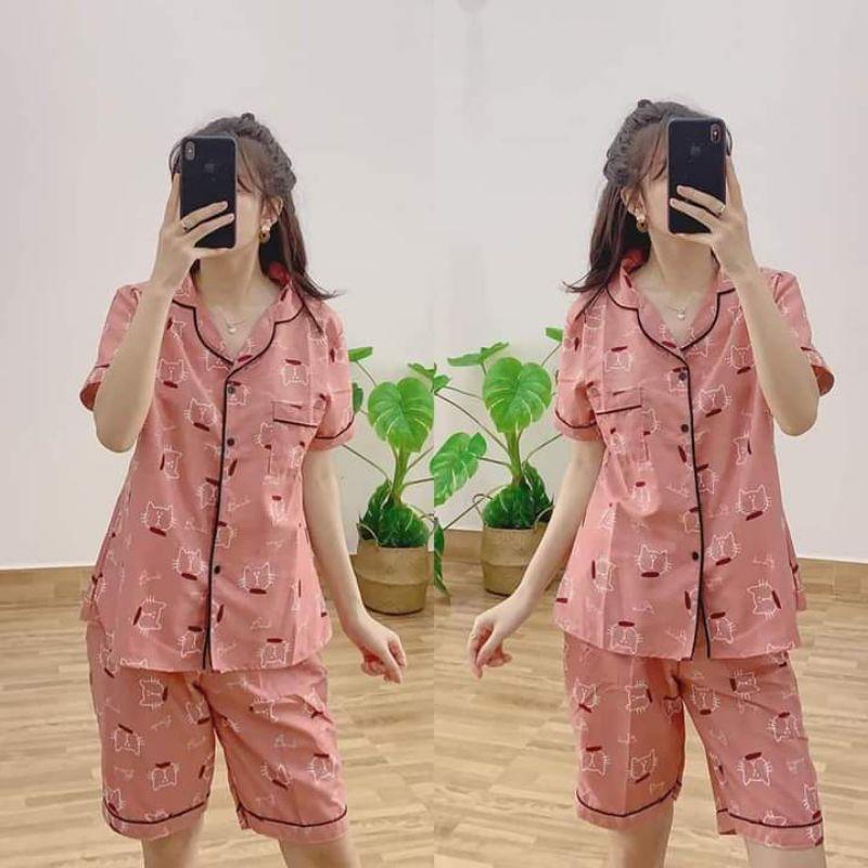 Mặc gì đẹp: Mát mẻ với [ Ảnh thật ]Bộ pijama kate thái lửng chuẩn sịn