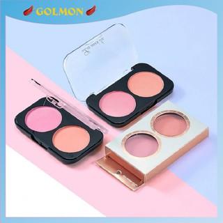 Phấn má hồng cam lâu trôi LAMEILA hộp 2 ô màu tự nhiên bảng phấn má nội địa Trung GM-PM-L201 thumbnail