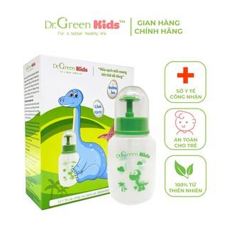Bình rửa mũi cho trẻ Dr.Green Kids, kèm 30 gói muối biển, thiết kế nhỏ gọn, đầu rửa silicon mềm mại, điều trị viêm mũi