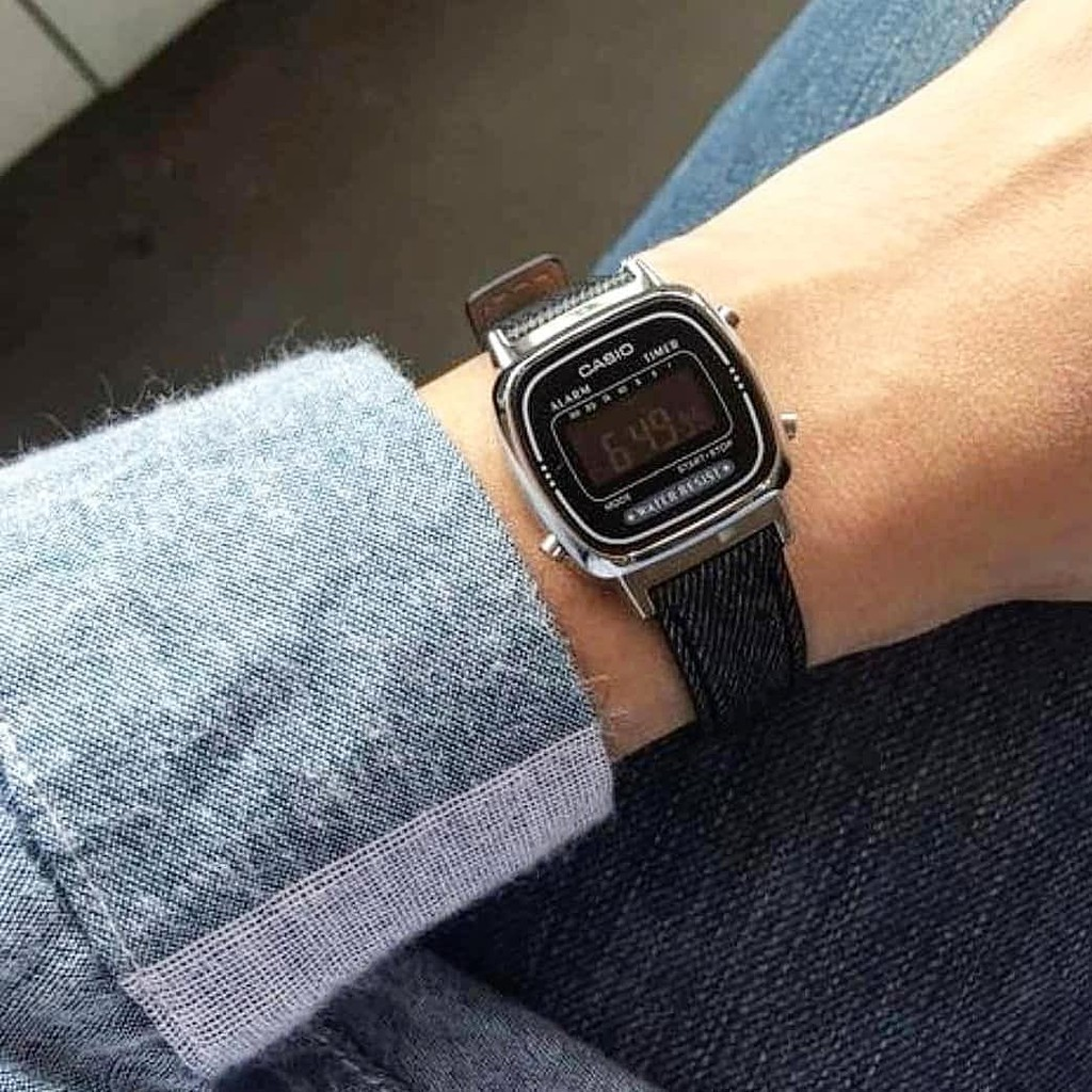 Đồng hồ Nữ dây thép Casio LA670WEGB-1B chính hãng bảo hành 1 năm Pin trọn đời