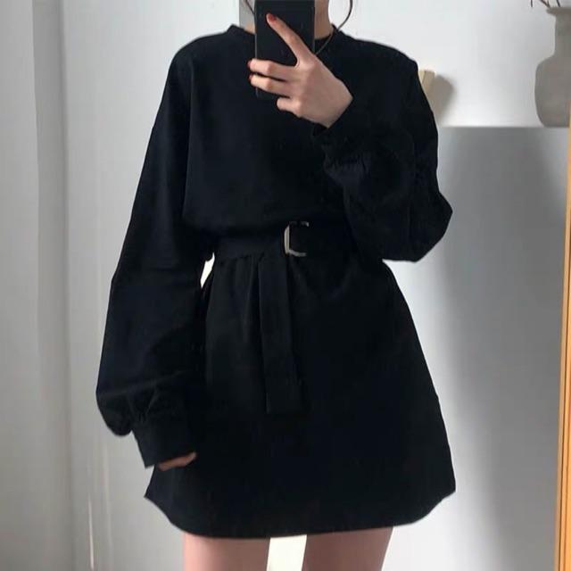 [Mã WASEPRN hoàn 20% xu đơn 99k] Váy sweater tay bồng tặng kèm dây lưng siêu hot