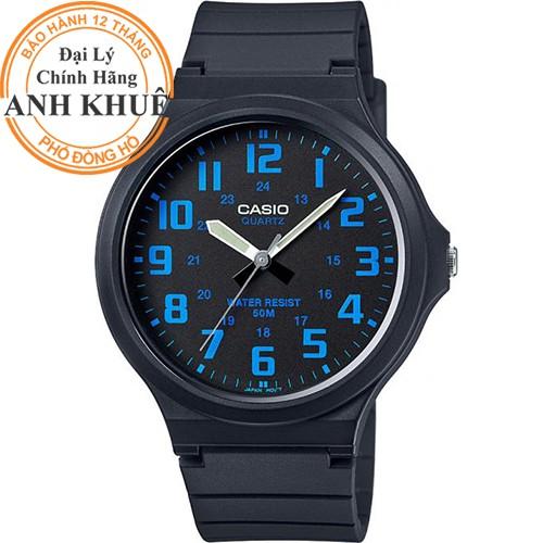 Đồng hồ nam dây nhựa Casio chính hãng Anh Khuê MW-240-2BVDF