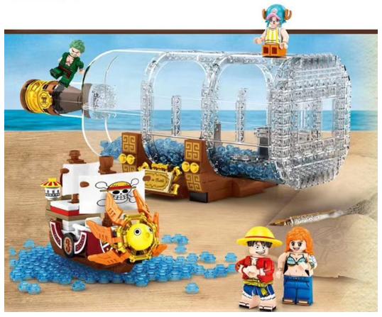 CREATIVE LEGO Đồ Chơi Lắp Ráp Mô Hình Tàu One Piece Sáng Tạo Cho Bé