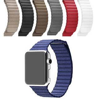Dây đeo Apple Watch Strap 38/40/42/44mm Vòng đeo từ tính bằng da mềm cho iWatch Series SE 6/5/4/3/2/1