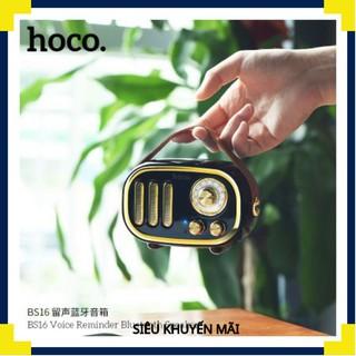 Loa Bluetooth Hoco BS16 có hỗ trợ thẻ nhớ phối hợp kiểu dáng cổ điển và hiện đại đẹp sang trọng âm thanh chất lượng thumbnail