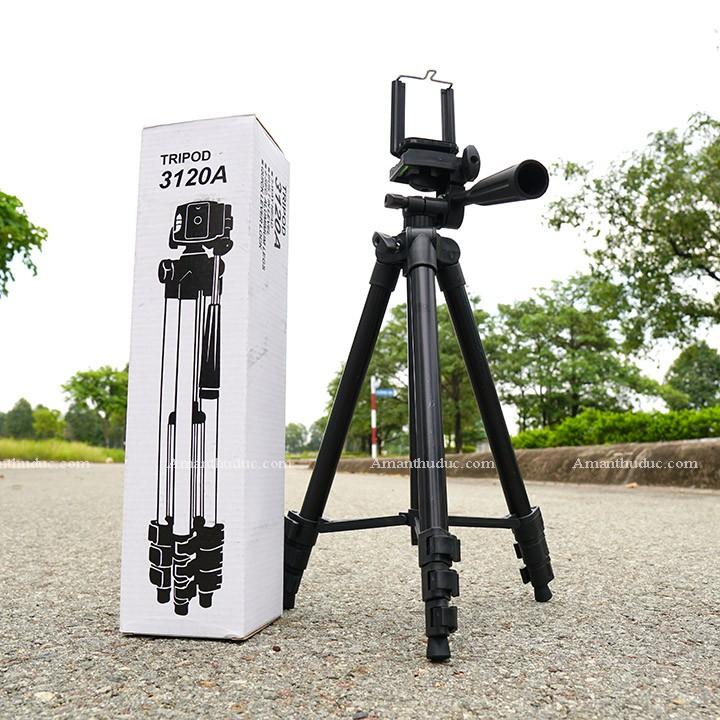 Tripod giá đỡ điện thoại máy ảnh livestream remote mini xịn giá rẻ nhất 3120 3120A 3 chân