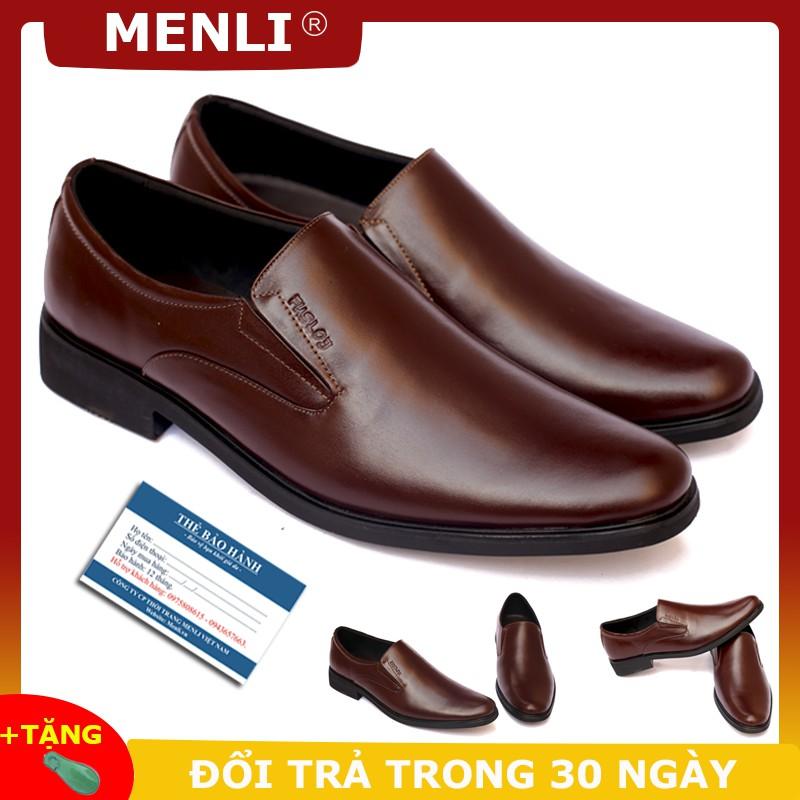 [DA BÒ THẬT] Giày tây không dây MENLI GLSP67 (Hoàn tiền nếu sai cam kết)
