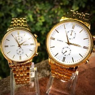 Đồng hồ thời trang nam nữ Rosra dây kim loại vàng cực đẹp SC355