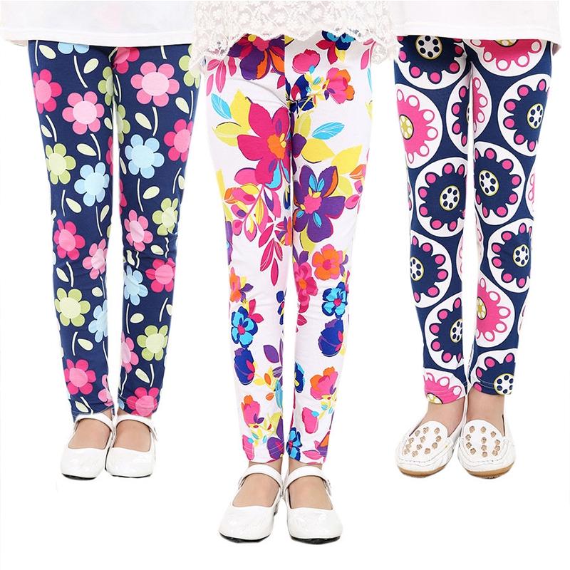 Quần legging ôm dáng in hình hoa thời trang dành cho bé gái